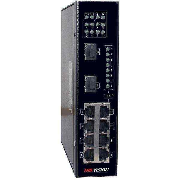 Hikvision NEI-ST258P2X 8x Gigabit PoE 2x SFP Endüstriyel Switch
